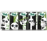 This Kids Panda hygienic handkerchiefs made of pure cellulose 3 ply 10 x 10 pieces