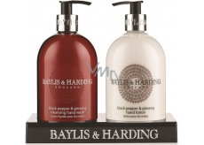 Baylis & Harding Black Pepper and Ginseng Liquid Soap 500 ml + Milk on Hand 500 ml Cosmetic Set