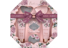 Baylis & Harding Boudoire Velvet Rose and Kashmir toilet soap 150 g + shower cream 130 ml + washing gel 130 ml + bath crystals 100 g + body butter 100 g + washcloth, cosmetic set