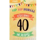 Nekupto Birthday card 40 Happy birthday 115 x 170 mm