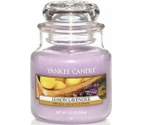 Yankee Candle Lemon Lavender - Lemon and lavender scented candle Classic small glass 104 g