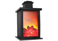 ImPap Lamp with burning fireplace effect Led light 24,5 x 14 cm