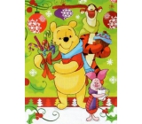 Nekupto Gift Paper Bag Medium 23 x 18 x 10 cm Winnie the Pooh, Christmas 1187 WLGM
