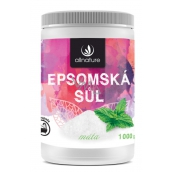 Allnature Epsom salt Magnesium, Sulphate and Mint in the bath relaxes muscles, relieves stress, detoxifies the body 1000 g
