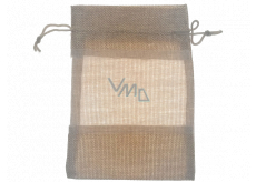 Bag with a view of imitation jute brown 18.5 x 13.5 cm 669
