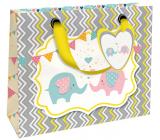 Nekupto Gift paper bag luxury 18 x 16 x 8 cm Elephant 1840 LIS