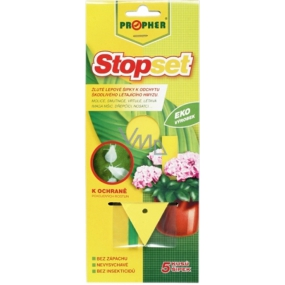 Propher Stopset yellow glue arrows for catching flying insects 5 pieces