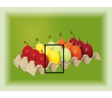 Lima Aromatické vajíčko svíčka žlutá B 40 x 60 mm