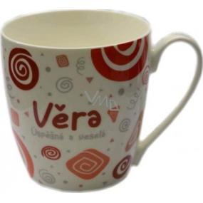 Nekupto Twister mug named Vera red 0.4 liter