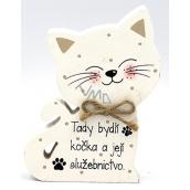 Nekupto Mazlíčci Dřevěná cedulka Tady bydlí kočka a její .12 x 9 x 1,5 cm