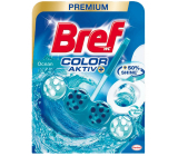 Bref Color Aktiv Ocean WC block for hygienic cleanliness and freshness of your toilet, colors the water in a turquoise shade of 50 g