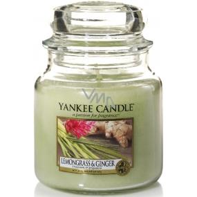 Yankee Candle Lemongrass & Ginger - Citrónová tráva a zázvor vonná svíčka Classic střední sklo 411 g