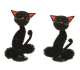 Cat black 7 cm, 2 pcs in box