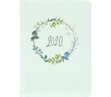 Albi Diary 2020 weekly Green garland 17 x 12,5 x 1,2 cm
