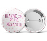 Nekupto Badge Don't fall in love with me 5.5 cm