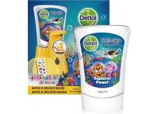 Dettol Kids Zoo Adventurer contactless soap dispenser yellow + 250 ml refill