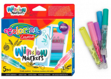 Colorino Chalk markers for glass 5 colors