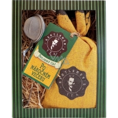 Bohemia Gifts & Cosmetics Herbal loose tea for gentleman After a hard evening + tea strainer 1 piece, gift set
