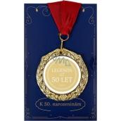 Albi Envelope Card Greeting Card Medal - 50 Years W