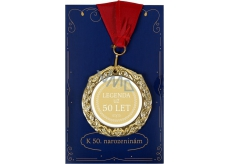Albi Envelope Card Greeting Card Medal - 50 Years W
