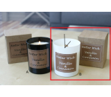 Lima Natur Wick Black & White Vanilla and cinnamon Aroma candle wooden wick white 175 g 1 piece