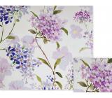 Nekupto Gift wrapping paper 70 x 150 cm Purple flowers