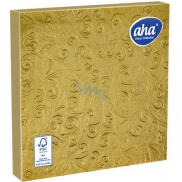 Aha Paper napkins 3 ply 33 x 33 cm 15 pieces Embossed gold