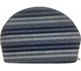 Etue Matte dark blue-white strip 12 x 8 x 4 cm 70290