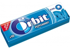Wrigleys Orbit Peppermint sugar-free gum dragees 10 pieces 14 g