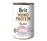 Brit Mono Protein Rabbit 100% pure rabbit protein Complete dog food 400 g