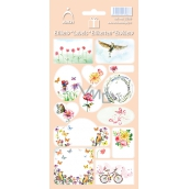 Self-adhesive labels Flowers 3586 - pink