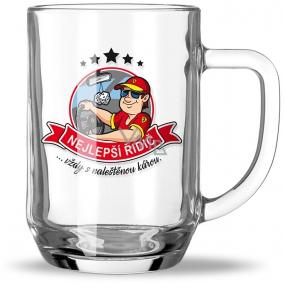 Nekupto Hobby Beer Glass Best Driver 500 ml
