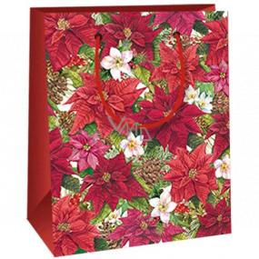 Ditipo Gift paper bag 11.5 x 6.5 x 14.5 cm Poinsettia E
