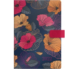 Albi Diary 2022 magnetic Dark flowers A5