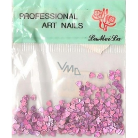 Professional Art Nails nail decorations hearts dark purple 1 pack