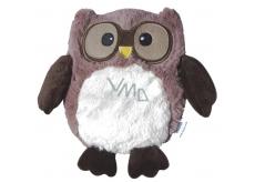Albi Warm plush Brown owl, 20 cm × 18 cm, 750 g