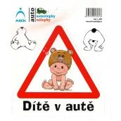 Arch Car sticker Child in car sitting 628 15 x 17 cm