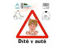 Arch Car sticker Child in a car sitting 15 x 17 cm