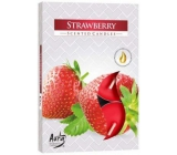 Bispol Aura Strawberry - Strawberries fragrant tealights 6 pieces