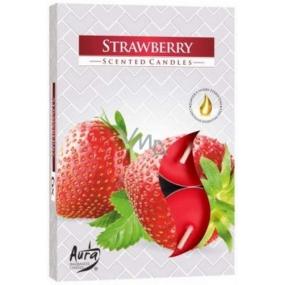 Bispol Aura Strawberry - Strawberries fragrant tealights 6 pieces