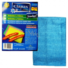 Clanax Standard Swedish microfiber cloth 40 x 35 cm 240 g