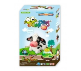 Jumping Clay Farm - Cows self-drying modeling clay 51 g + paper model + plastic box 5+