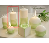Lima Aromatic spiral Lily of the valley candle white - green cylinder 60 x 120 mm 1 piece