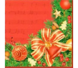 Nekupto Paper napkins 3 ply 33 x 33 cm 20 pieces red with ribbon