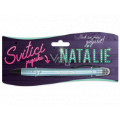 Nekupto Glowing pen with the name Natalie, touch tool controller 15 cm