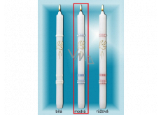 Lima Church baptismal candle blue with gold decoration No. 1001 25 x 360 mm 1 piece