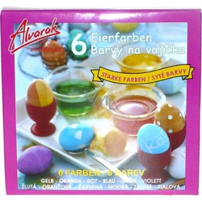 Alvarak Vibrant color for eggs 6 pieces
