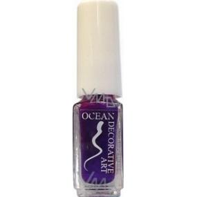 Ocean Decorative Art decorating nail polish shade 45 dark purple 5 ml