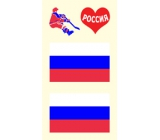 Arch Tattoo Decals on Face and Body Russia Flag 3 motif