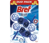 Bref Blue Aktiv Chlorine WC block for hygienic cleanliness and freshness of your toilet, color water to blue shade 2 x 50 g